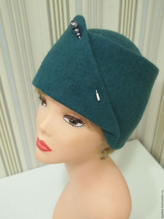 """Шляпы ручной работы. Ярмарка Мастеров - ручная работа. Купить шляпка валяная """"Прогулка"""". Handmade. Однотонный, войлок, шляпа женская"""