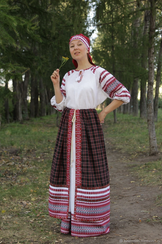 """Платье """"Лада"""" бело-красное, Народные костюмы, Ульяновск,  Фото №1"""