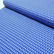 Материалы для творчества ручной работы. Ярмарка Мастеров - ручная работа Американский хлопок. Голубые треугольничики. Handmade.