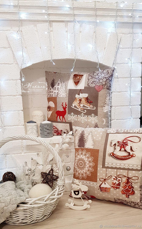 Подушка Новогодняя декоративная 45х50, Подушки, Одинцово,  Фото №1