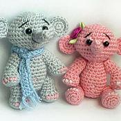Куклы и игрушки ручной работы. Ярмарка Мастеров - ручная работа Слоник-брелок крошка Стефи.. Handmade.