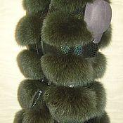 """Одежда ручной работы. Ярмарка Мастеров - ручная работа Меховой жилет """"зеленая рептилия"""". Handmade."""