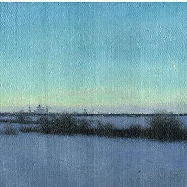 Картины и панно ручной работы. Ярмарка Мастеров - ручная работа Купить рисованную картину на холсте Вид на Переславль. Handmade.