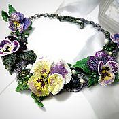 Украшения handmade. Livemaster - original item Necklace: DEW ON VIOLETS. Beaded necklace.. Handmade.