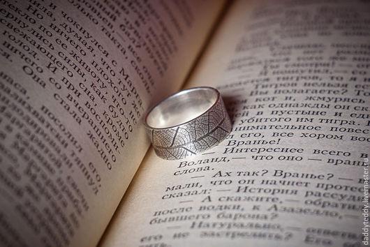 Кольца ручной работы. Ярмарка Мастеров - ручная работа. Купить кольцо с текстурой. Handmade. Серебряный, мужское кольцо