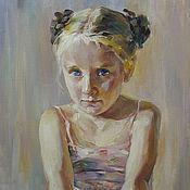 Картины и панно ручной работы. Ярмарка Мастеров - ручная работа Детский портрет. Handmade.