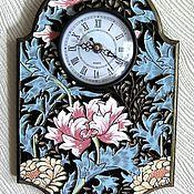 Для дома и интерьера handmade. Livemaster - original item Wall clock Flowers. Handmade.