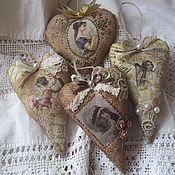 """Подарки к праздникам ручной работы. Ярмарка Мастеров - ручная работа Сердечки коричные """"Винтаж"""" ассорти. Handmade."""