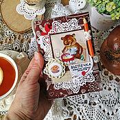 Канцелярские товары handmade. Livemaster - original item Culinary notebook kid, notebook, A6 size, with lock. Handmade.