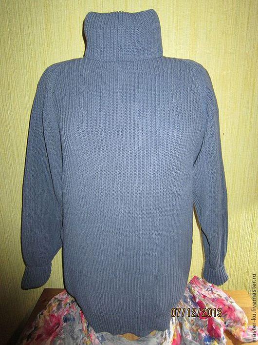 """Кофты и свитера ручной работы. Ярмарка Мастеров - ручная работа. Купить Джемпер """"Джинсовый"""". Handmade. Синий, джемпер вязаный, комфортный"""