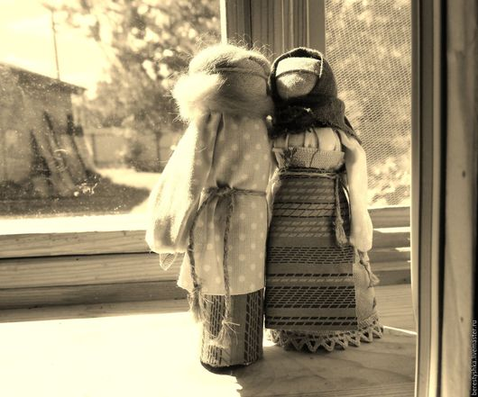 Народные куклы ручной работы. Ярмарка Мастеров - ручная работа. Купить парочка. Handmade. Парочка, подарок на свадьбу, хлопок