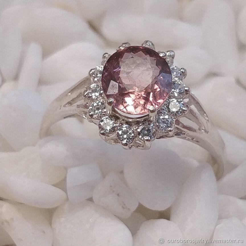 Серебряное кольцо с турмалином, Кольца, Новосибирск,  Фото №1