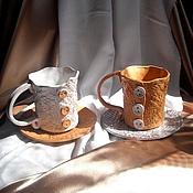 """Посуда ручной работы. Ярмарка Мастеров - ручная работа """"Чай для двоих"""", набор чашек.. Handmade."""