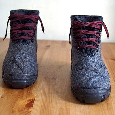 Обувь ручной работы. Ярмарка Мастеров - ручная работа Ботинки Мужские Серые. Handmade.