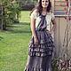 Платья ручной работы. Ярмарка Мастеров - ручная работа. Купить Платье в стиле БОХО с полосатым верхом. Handmade.