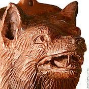 Аксессуары ручной работы. Ярмарка Мастеров - ручная работа Волк, Wolf head. Handmade.