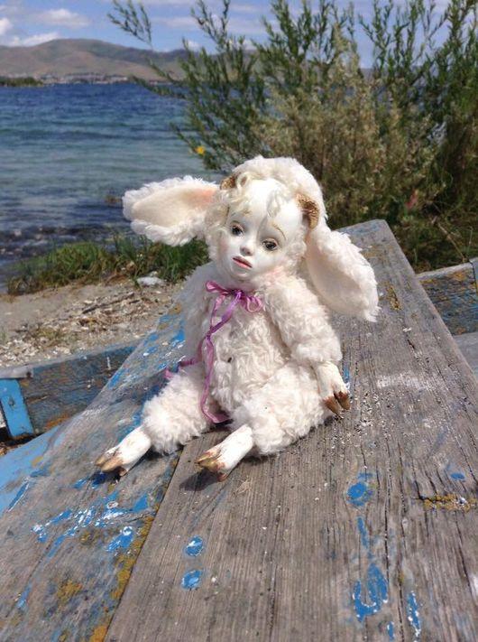 Коллекционные куклы ручной работы. Ярмарка Мастеров - ручная работа. Купить Тедди-долл Барашек Бека, арт-кукла. Handmade.