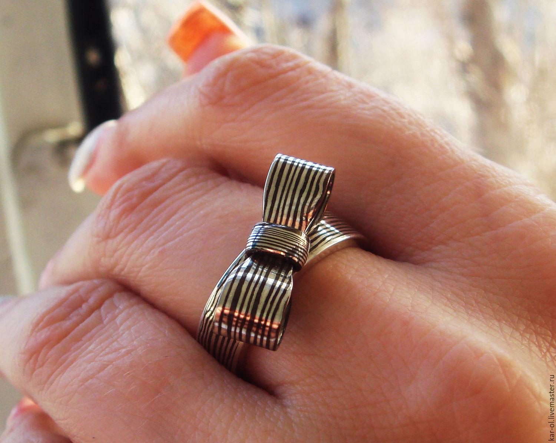 Fancy ring in mokume gane technique. Ring 'Bow', Rings, Voskresensk,  Фото №1