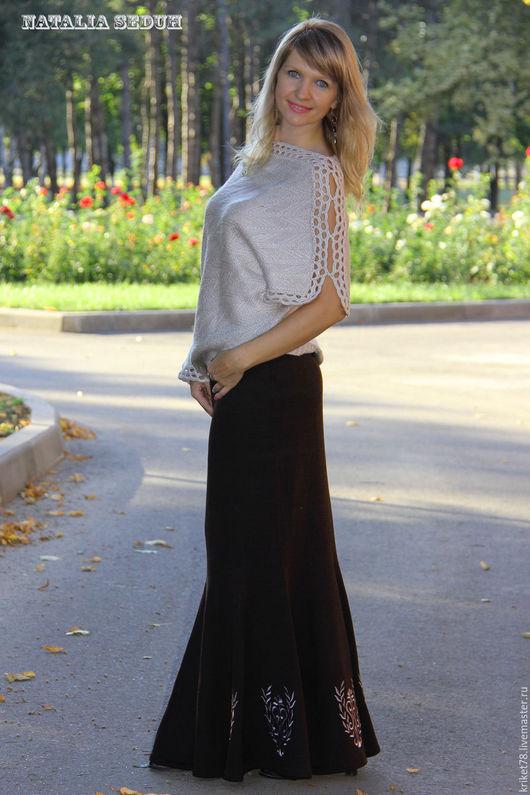 Вязаные кофты и юбки