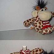 Сувениры и подарки ручной работы. Ярмарка Мастеров - ручная работа флешка-игрушка 2Гб (жирафик). Handmade.