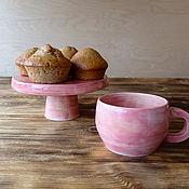 Посуда ручной работы. Ярмарка Мастеров - ручная работа набор Розовые грезы. Handmade.