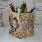 """Карандашницы ручной работы. Ярмарка Мастеров - ручная работа Карандашница """"Foxwood tales"""". Handmade."""