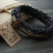 Украшения handmade. Livemaster - original item leather bracelet with axe. Handmade.