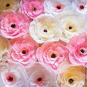 Свадебный салон ручной работы. Ярмарка Мастеров - ручная работа Большие бумажные цветы. Handmade.