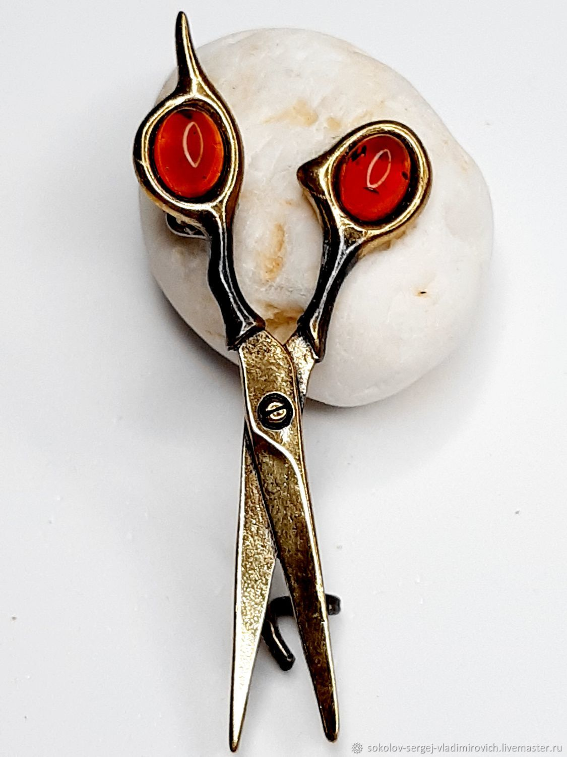 Brooch Scissors, Brooches, Moscow,  Фото №1