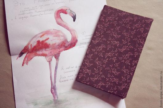 Блокноты ручной работы. Ярмарка Мастеров - ручная работа. Купить Блокнот. Handmade. Коричневый, блокнот ручной работы, розовый