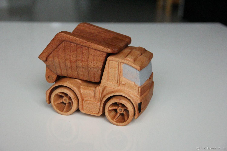 Машинка из дерева. Самосвал, Техника роботы транспорт, Красноярск,  Фото №1
