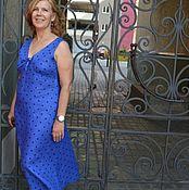 Одежда ручной работы. Ярмарка Мастеров - ручная работа Платье изо льна Джузи с подрезным лифом. Handmade.
