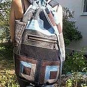 Сумки и аксессуары handmade. Livemaster - original item Backpack denim Music. Handmade.