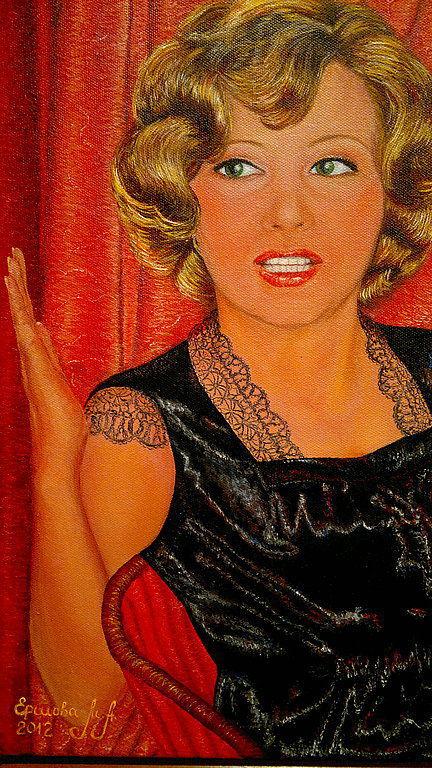 Люди, ручной работы. Ярмарка Мастеров - ручная работа. Купить Портрет с чёрно-белой фотографии.Мама в восьмидесятых. Холст, масло.. Handmade.
