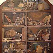Дизайн и реклама ручной работы. Ярмарка Мастеров - ручная работа роспись шкафа-библиотека. Handmade.