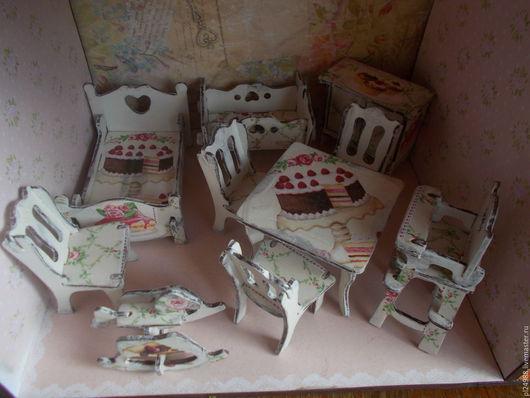 Кукольный дом ручной работы. Ярмарка Мастеров - ручная работа. Купить Кукольная мебель (декупаж), мебель для кукол.. Handmade.