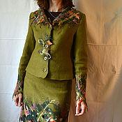 """Одежда ручной работы. Ярмарка Мастеров - ручная работа Жакет и юбка """"Олива"""". Handmade."""