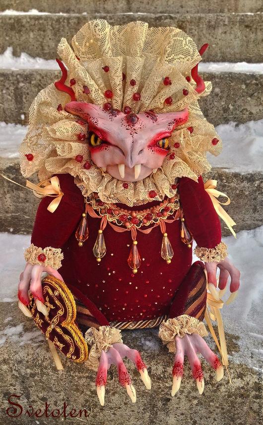 Коллекционные куклы ручной работы. Ярмарка Мастеров - ручная работа. Купить Lord Dragon. Handmade. Ярко-красный, оберег