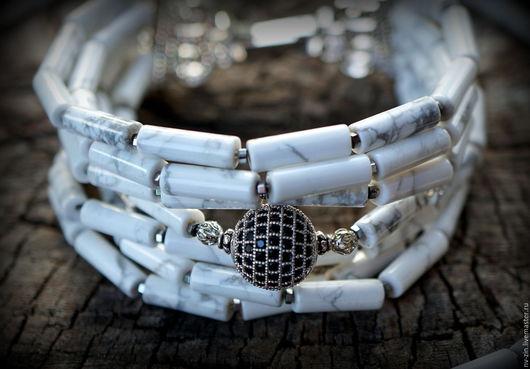 Браслеты ручной работы. Ярмарка Мастеров - ручная работа. Купить браслет и колье МРАМОР. Handmade. Браслет, белый, кохалонг