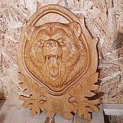 """Панно ручной работы. Ярмарка Мастеров - ручная работа Панно """"Медведь"""". Handmade."""