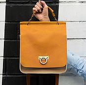 Сумки и аксессуары handmade. Livemaster - original item Bag of red and beige leather. Handmade.