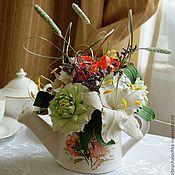 """Цветы и флористика ручной работы. Ярмарка Мастеров - ручная работа """"Английский завтрак""""-Интерьерная композиция. Handmade."""