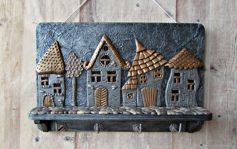 Housekeeper Night city. The housekeeper wall. decor polymer clay, Housekeeper, Shuya,  Фото №1
