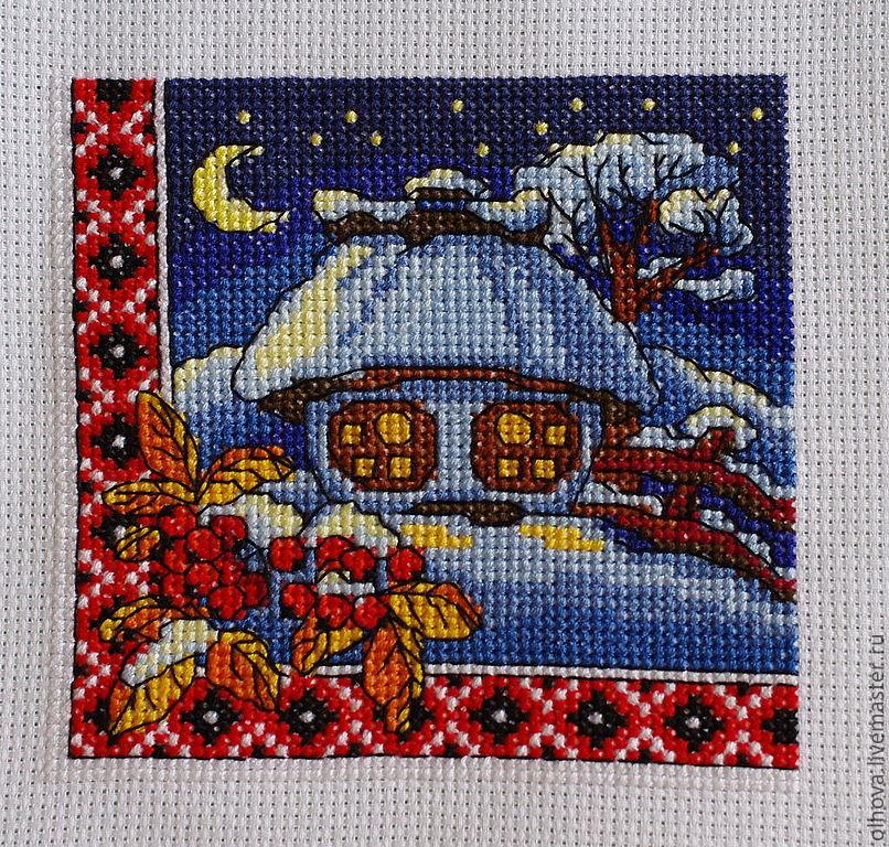 8862c0a619e8 ручной работы. Ярмарка Мастеров - ручная работа. Купить Зимняя ночь.  Handmade.