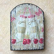 """Посуда ручной работы. Ярмарка Мастеров - ручная работа Сырная досочка из вяза """"Вишенки"""". Handmade."""