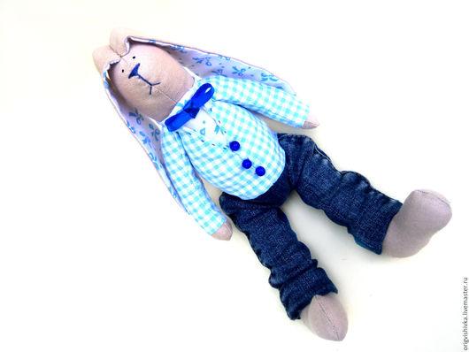 Куклы Тильды ручной работы. Ярмарка Мастеров - ручная работа. Купить Заяц тильда Джинсовый мальчик. Handmade. Тильда