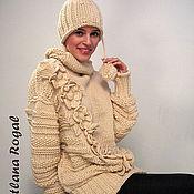 """Одежда ручной работы. Ярмарка Мастеров - ручная работа """"ДИАГОНАЛЬ"""" свитер-платье. Handmade."""