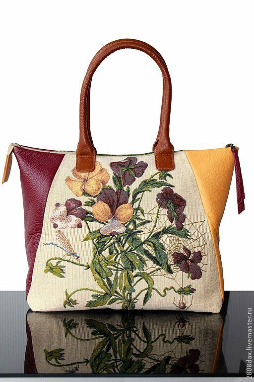SAC 'Harmonie-Garden Pansy' leather, Valise, Bordeaux,  Фото №1