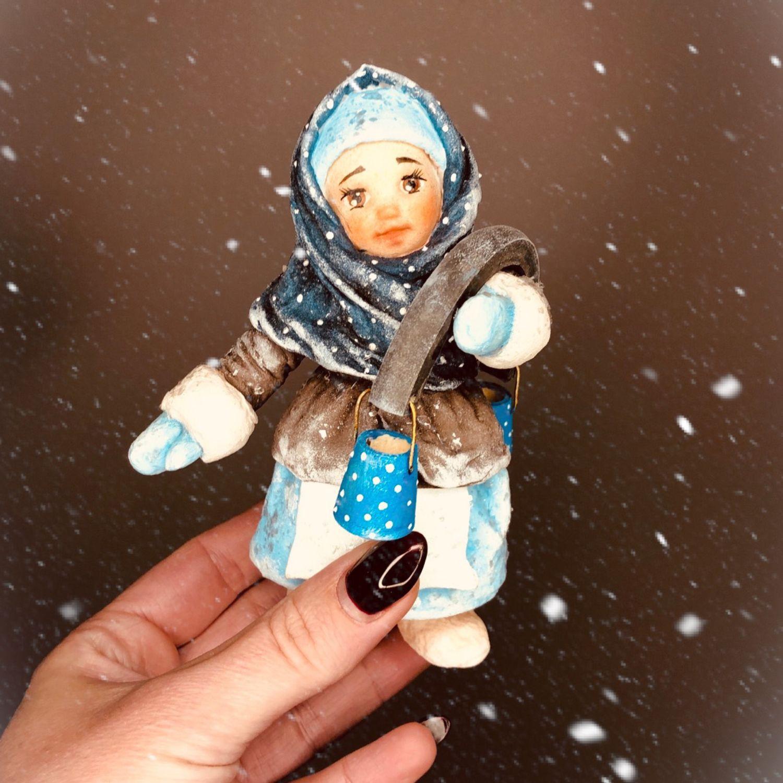 Ватная елочная игрушка Машенька, Куклы и пупсы, Москва,  Фото №1
