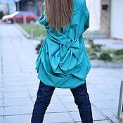 Одежда handmade. Livemaster - original item Blouse with long sleeves and stylish back - TU0514PLV. Handmade.